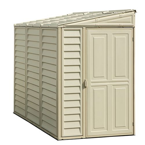SideMate 4 ft. W x 8 ft. D Fire Retardant Vinyl Resin Shed