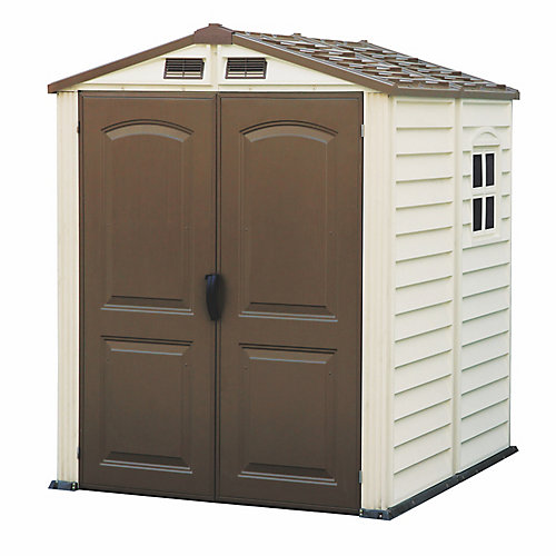 StoreMate 6 ft. W x 6 ft. D Fire Retardant Vinyl Resin Shed