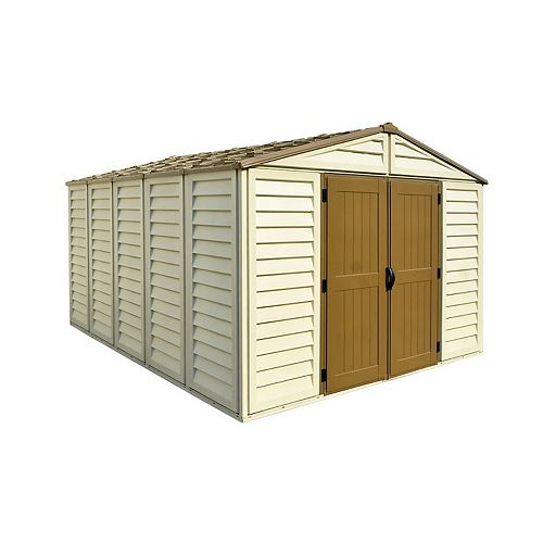 Woodbridge Plus 10.5 ft.W x 13 ft.D Fire Retardant Vinyl Resin Shed
