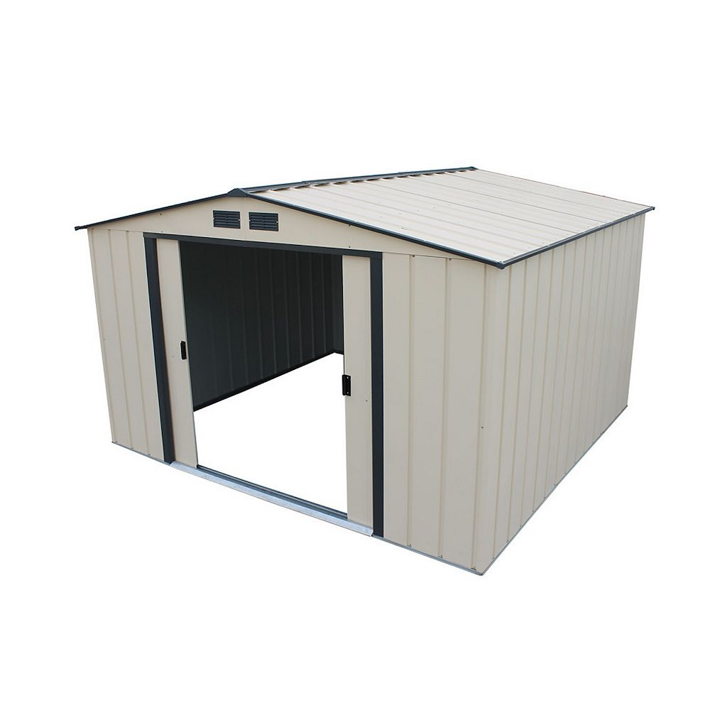Duramax Eco 10 ft.W x 10 ft.D Galvanized Steel Shed