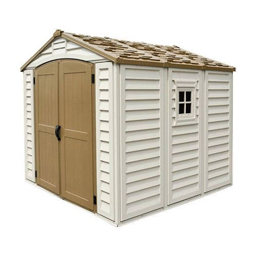 Duraplus 8 ft. x 8 ft. Fire Retardant Vinyl Resin Shed