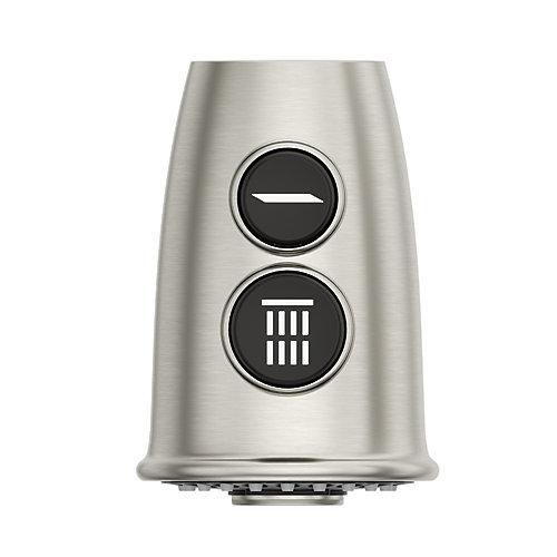 950-308S Tête de pulvérisation pour robinet de cuisine Glenfield Pull Out, acier inoxydable