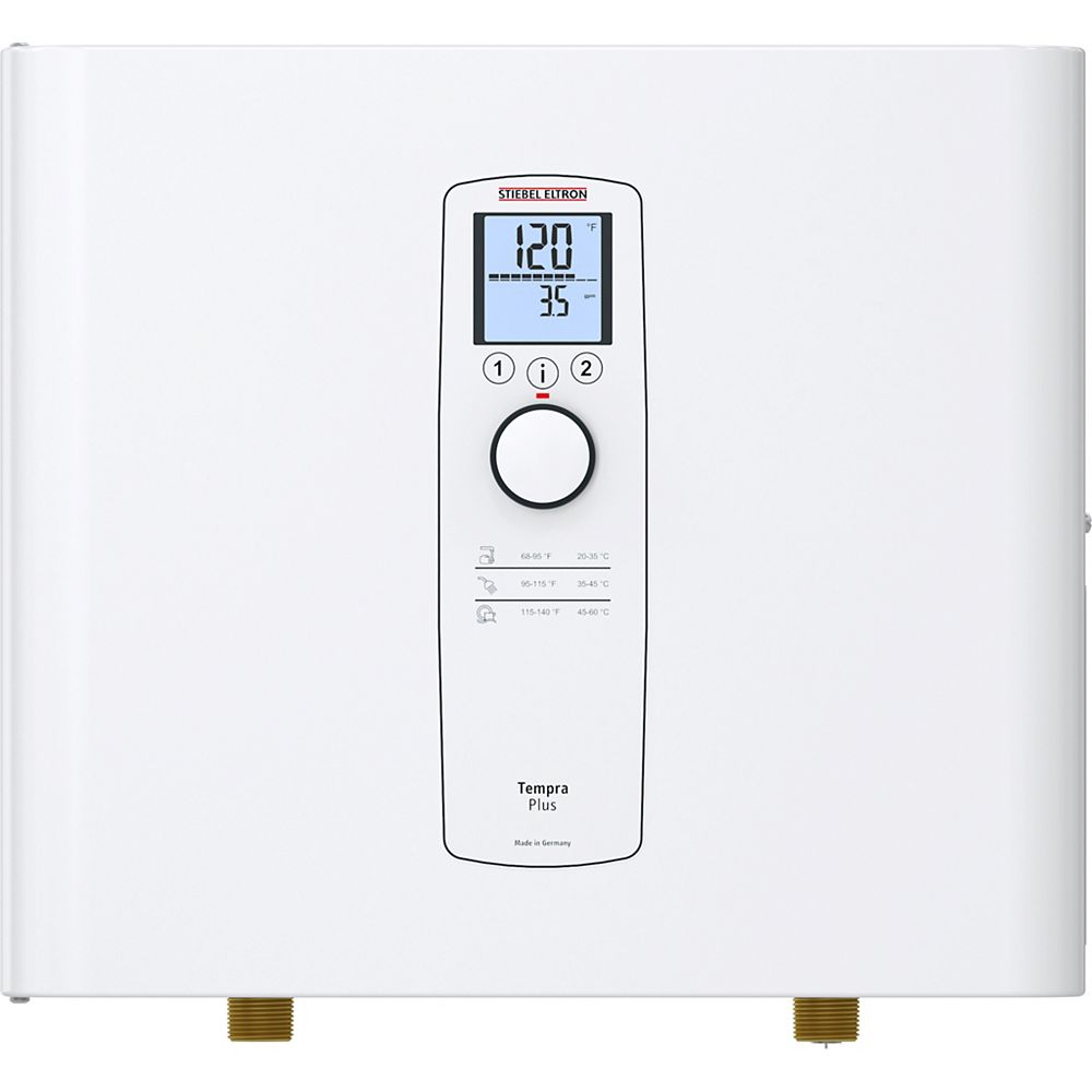 Stiebel Eltron Tempra 12 Plus Advanced Flow Control and Self-Modulating 12 kW 2.34 GPM Electric Tankless Water Heater