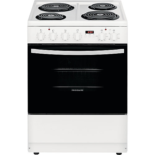 24-inch 1.9 cu. ft. Freestanding Electic Coil Range in White