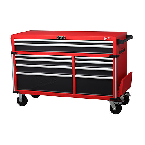 56 inch High Capacity Industrial 10-Drawer Steel Storage Cabinet