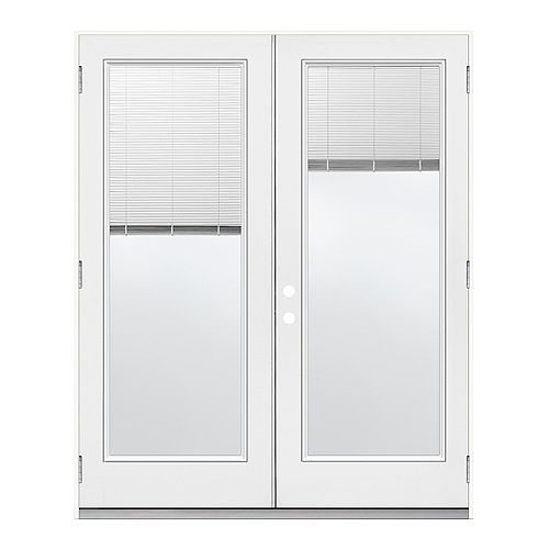 5 ft.  French Door, Full Lite Mini Blind , LowE Argon,  RH,  Outswing,  6  9/16 inch Jamb,  West
