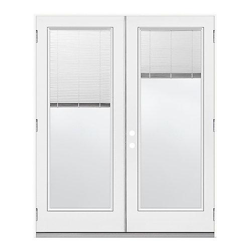 """6' mini-store porte jumelle penturée DR ouv. ext., Low-E, jambage 6 9/16"""""""