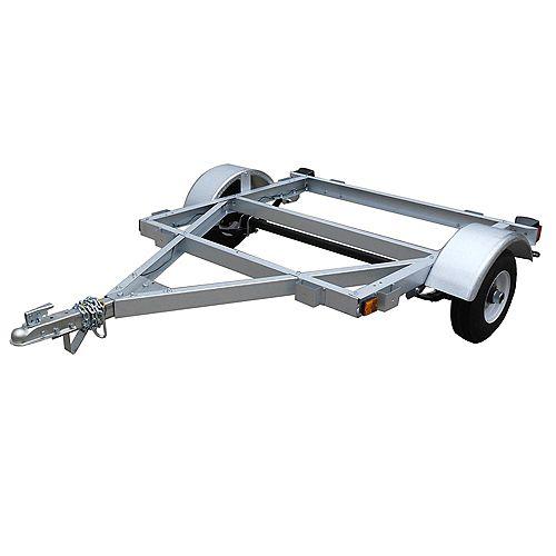 4 ft. x 4 ft.Galvanized Single Axle Kit Trailer