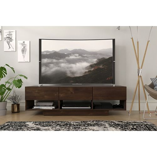 Stereo 60-inch TV Stand, Truffle