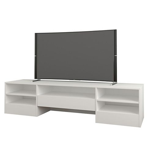 Rustik 72-inch 1-Drawer TV Stand in White