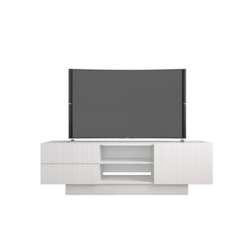 Marble 60-inch TV Stand in White