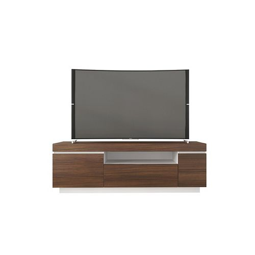 Cali 60-inch TV Stand in Walnut and White