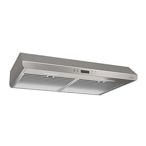 Hotte de cuisinière sous-armoires 30 po 400 pi3/min en acier inoxydable