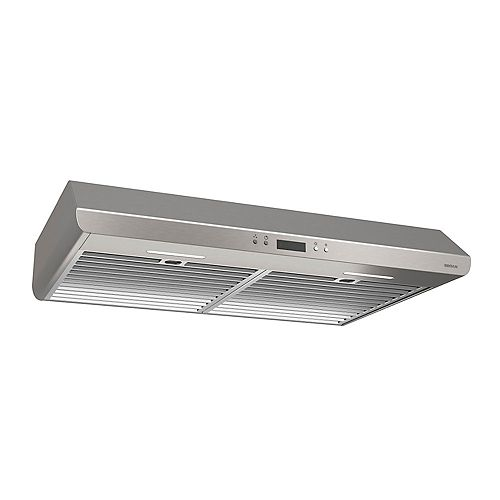 30 inch 400 CFM Under cabinet range hood in stainless steel
