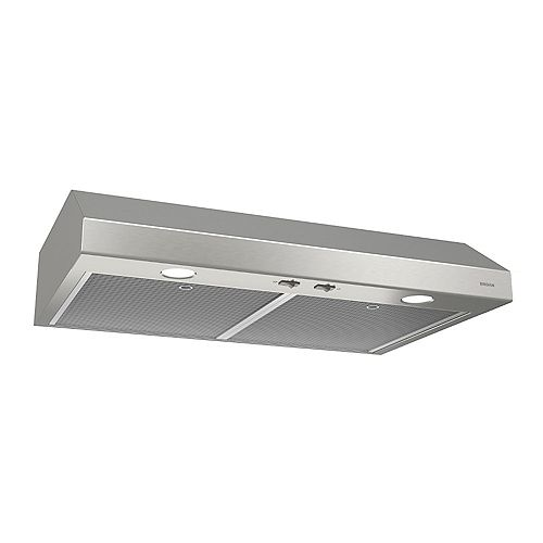 Broan-NuTone 24 Inch Under Cabinet Range Hood, 300 Max Blower CFM, Stainless Steel