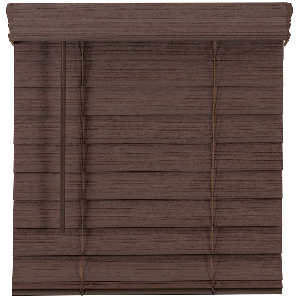 Home Decorators Collection 57,5 Po Largeur x 48 Po Longueur, 2,5 Po Stores En Similibois Première Sans Fil, Expresso