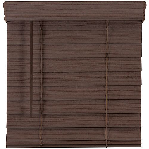 Home Decorators Collection 2.5-inch Cordless Premium Faux Wood Blind Espresso 60-inch x 48-inch