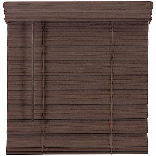 Home Decorators Collection 2.5-inch Cordless Premium Faux Wood Blind Espresso 59-inch x 72-inch
