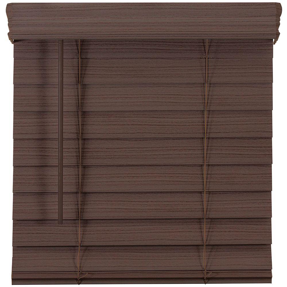 Home Decorators Collection 63,5 Po Largeur x 72 Po Longueur, 2,5 Po Stores En Similibois Première Sans Fil, Expresso