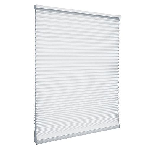 34-inch W x 72-inch L, Light Filtering Cordless Cellular Shade in Snow Drift White