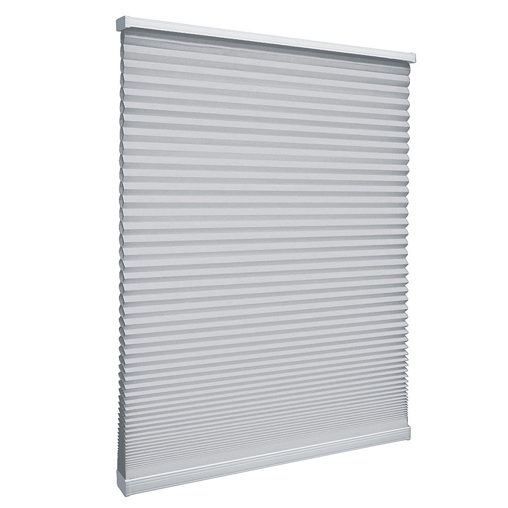 Home Decorators Collection 38.5-inch W x 64-inch L, Light Filtering Cordless Cellular Shade in Silver Grey