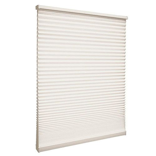 33-inch W x 48-inch L, Light Filtering Cordless Cellular Shade in Natural Beige