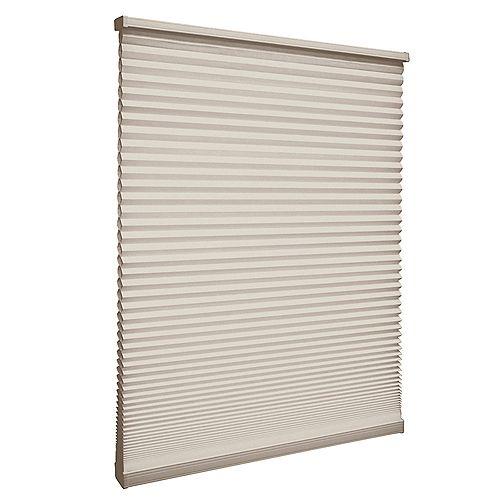 22-inch W x 48-inch L, Light Filtering Cordless Cellular Shade in Nutmeg Tan