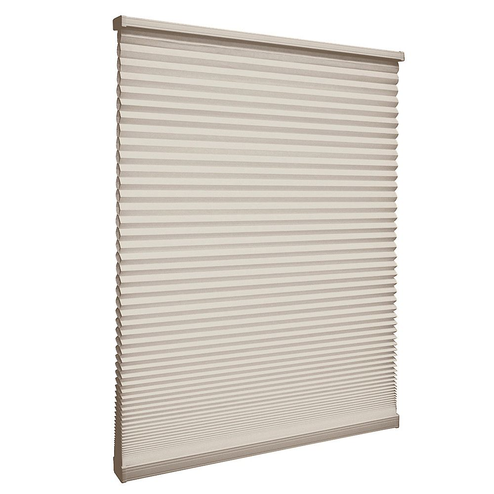 Home Decorators Collection 55.5-inch W x 72-inch L, Light Filtering Cordless Cellular Shade in Nutmeg Tan