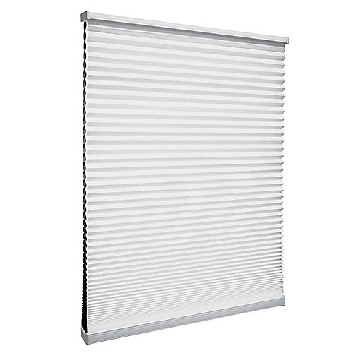 Cordless Blackout Cellular Shade Shadow White 17.5-inch x 64-inch
