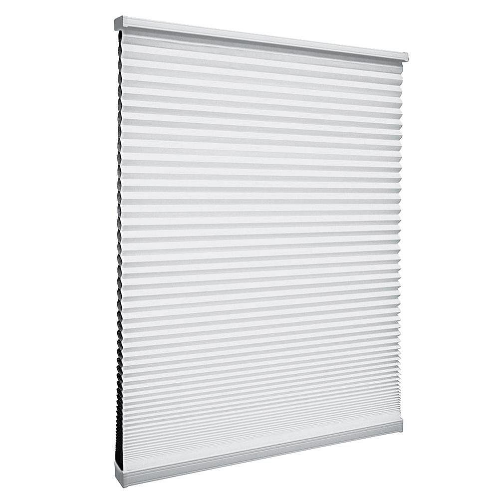 Home Decorators Collection 23.25-inch W x 64-inch L, Blackout Cordless Cellular Shade in Shadow White