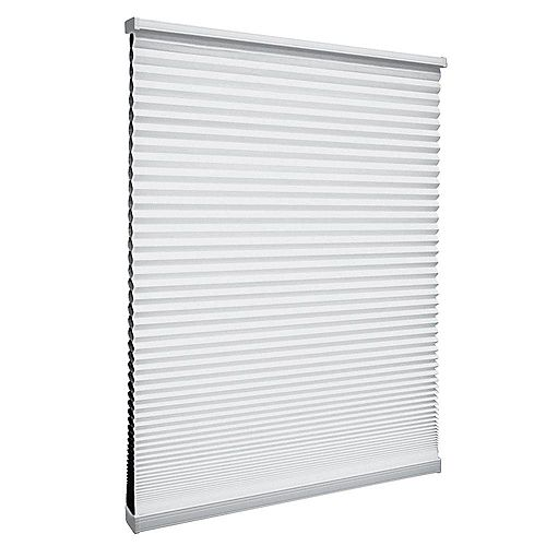 60-inch W x 64-inch L, Blackout Cordless Cellular Shade in Shadow White