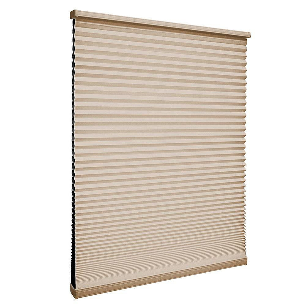 Home Decorators Collection 58.5-inch W x 48-inch L, Blackout Cordless Cellular Shade in Sahara Tan