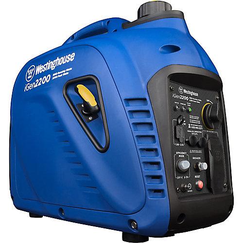 Génératrice à onduleur portative à gaz super silencieux de 2 200/1 800 watts
