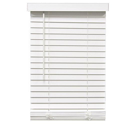 Home Decorators Collection Stores en similibois sans cordon de 5,08cm (2po) Blanc 121.3cm x 121.9cm