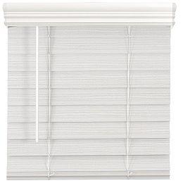 Stores en Faux Bois de Qualité Supérieure Sans Fil de 18 Pouces (Largeurs Multiples) x 64 Pouces de Longueur, 2,5 Pouces en Blanc