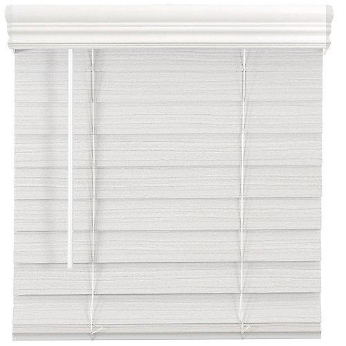Store en similibois de qualité supérieure sans cordon de 6,35cm (2po) Blanc 121.9cm x 162.6cm