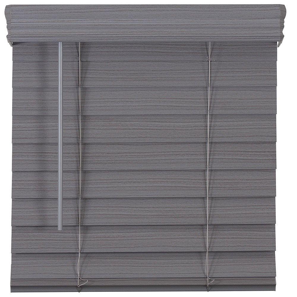 Home Decorators Collection Store en similibois de qualité supérieure sans cordon de 6,35cm (2po) Gris 177.2cm x 121.9cm