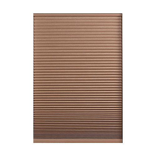 21.5-inch W x 48-inch L, Blackout Cordless Cellular Shade in Dark Espresso Brown
