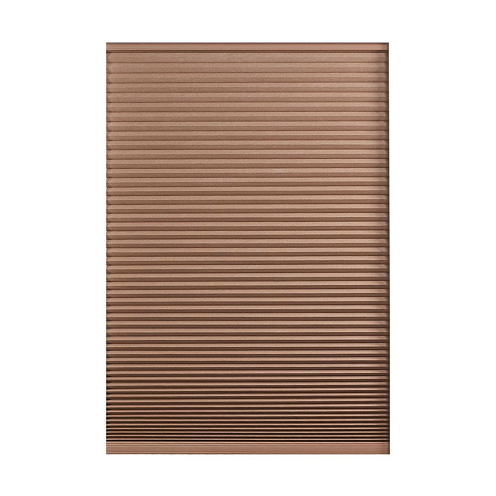 Home Decorators Collection 55.5-inch W x 72-inch L, Blackout Cordless Cellular Shade in Dark Espresso Brown