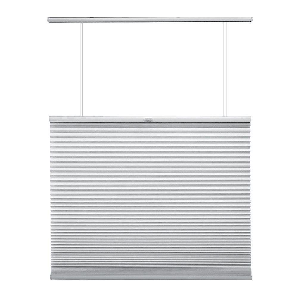 Home Decorators Collection 63.5-inch W x 48-inch L, Top Down/Bottom Up Light Filtering Cordless Cellular Shade in Snow Drift White