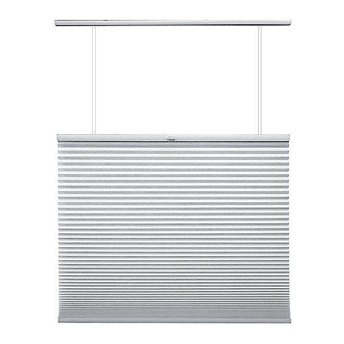 69,5 po x 48 po, Stores Cellulaires Ascendant/Descendant Filtre de Lumière Sans Fil Blanc Snow Drift