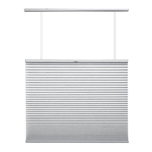 34.5-inch W x 72-inch L, Top Down/Bottom Up Light Filtering Cordless Cellular Shade in Snow Drift White