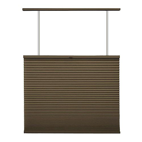 Home Decorators Collection Cordless Top Down/Bottom Up Cellular Shade Espresso 19-inch x 48-inch