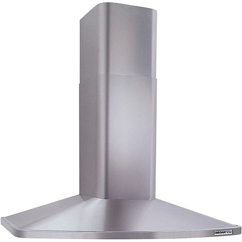 30 inch 370 CFM Chimney style range hood in stainless steel