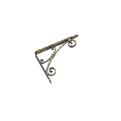 Support à tablette décoratif, Laiton Antique brossé, 7-3/32 po