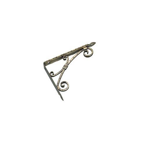 Onward Decorative Shelf Support, Brushed Antique Brass, 13-3/8 inch