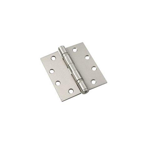 Charnières mortaisée à roulement à billes - Boîte de 3 - Nickel brossé