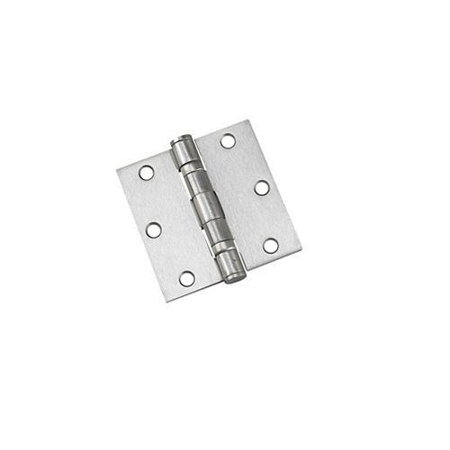 Charnières mortaisée à roulement à billes - Boîte de 2 - Nickel brossé