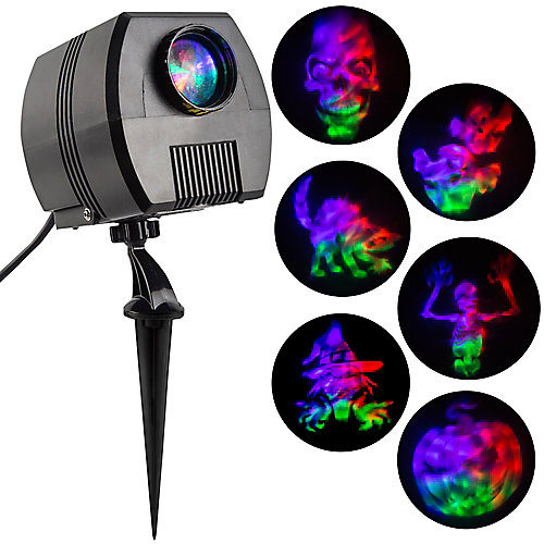 Projection-Specter Projector w/Sound-Fire & Ice-6 Slides-Realistic Faces (GOP)
