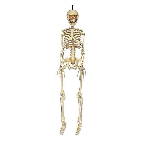 36-inch LED-Lit Hanging Skeleton Halloween Decoration